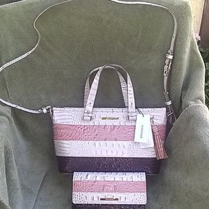 Brahmin Asher Crossbody Bag & matching wallet